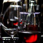 rouge et verres